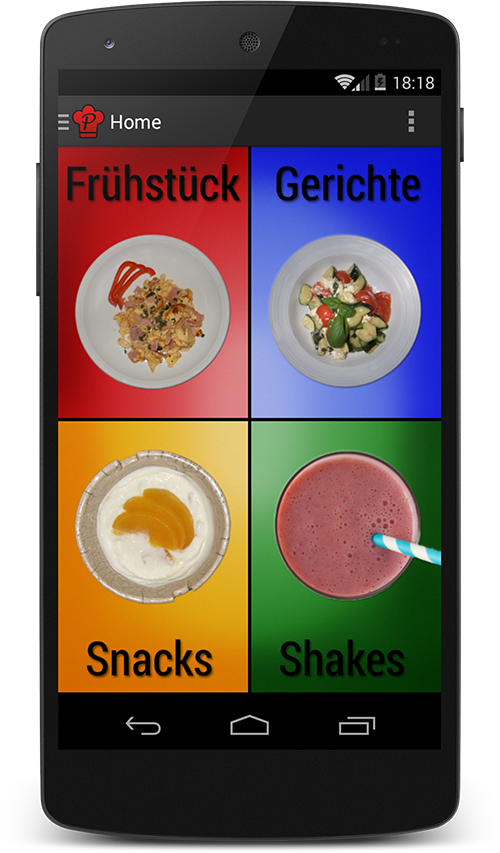 ProteinChef Hauptmenü